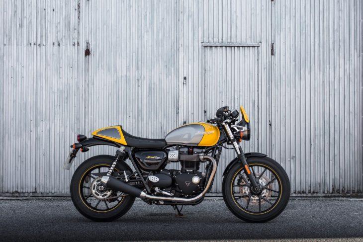 Moto anglaise occasion le top la Triumph Street Cup2 - Moto anglaise occasion le top la Triumph Street Cup Video